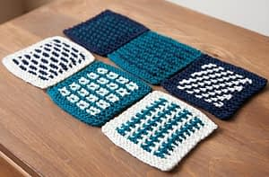 Knitted Slip Stitch Coasters