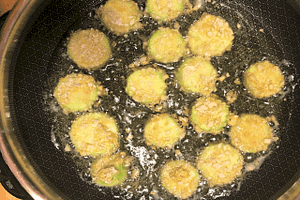 Zucchini Frying in the Skillet